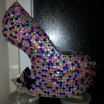 High heel with sequins from Shu-Junkies