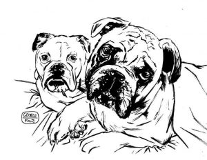 Two dogs by George Folz