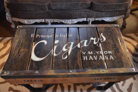 vintage coffee table from Second Chance Art