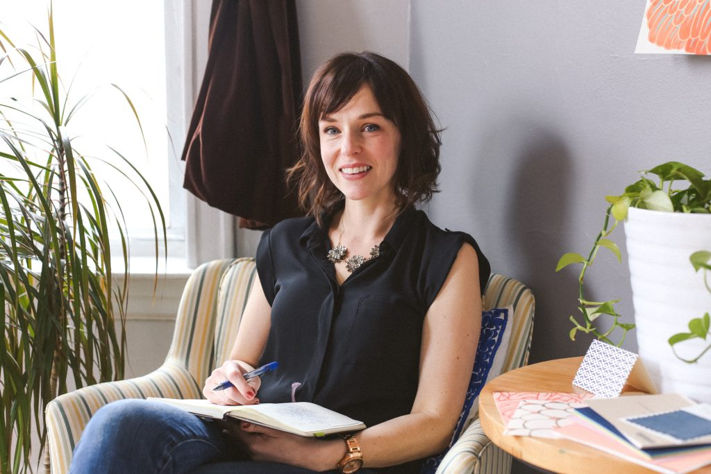 Erin M Chlaghmo, owner of Relativity Textiles