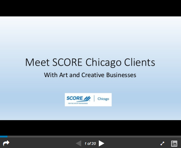 SCORE Clients with Arts and Creative Businesses