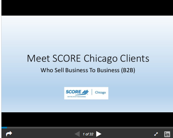 Business To Business Clients at SCORE Chicago